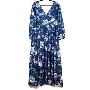 H&M | Blue Floral Maxi Dress 18